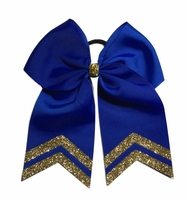 6 Inch Royal Blue with Old Gold Glitter Tips