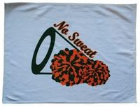 New Cheer Forest Green and Orange Sweat Towel