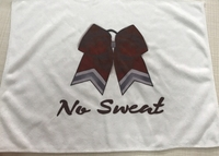 New Hair Bow Sweat Towel with No Sweat logo