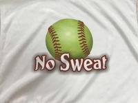 New Softball Towel with No Sweat Logo