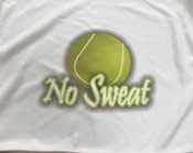 New Tennis Towel with No Sweat logo