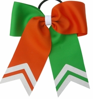 Small 5.5 Inch Green and Orange with White Glitter Tips