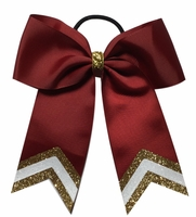 Small 5.5 Inch Maroon with Old Gold and White Tips