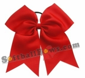 Solid Color Sport Hair Bows 6.5 Inches