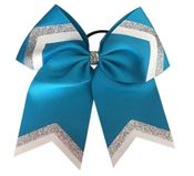 Turquoise Glitter Loop and Tails