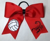 Volleyball Hair Bows