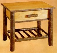 """Old Hickory Classic Nightstand with Spoke Shelf -22"""""""
