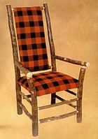 Old Hickory High Back Arm Chair
