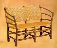 Old Hickory Hoop Settee