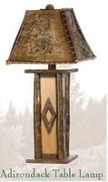 Old Hickory Adirondack Table Lamp