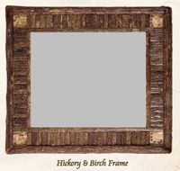Old Hickory Hickory and Birch Frame Mirror