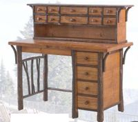 Old Hickory North Fork Fly-Tying Desk and Hutch