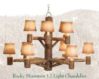 Old Hickory Rocky Mountain 12 Light Chandelier