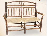 Old Hickory Wagon Wheel Outdoor Settee
