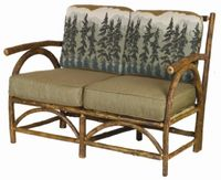 Old Hickory Sun Valley Club Love Seat