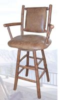 Old Hickory Swivel Bar Stool