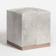 Alder and Tweed Felix Small Leather Ottoman
