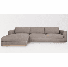 Alder and Tweed Maddox Sectional with Left Facing Chaise