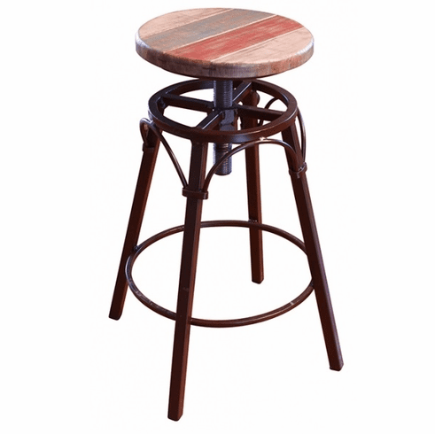 Surprising Antique Multicolor Swivel Adjustable Barstool Pdpeps Interior Chair Design Pdpepsorg