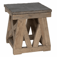 Classic Home Rustic Marbella End Table