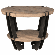 Classic Home Rustic Marcelo Round End Table