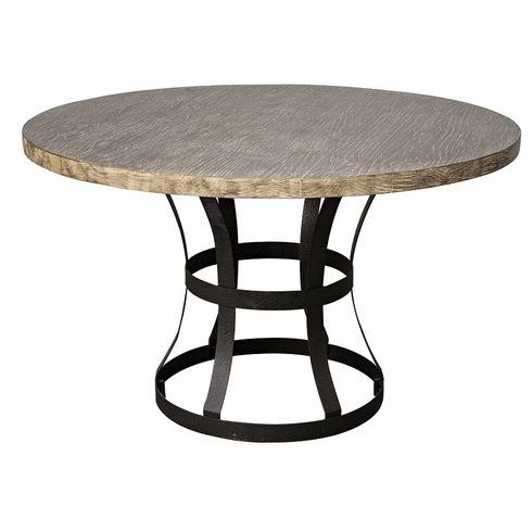 Clic Home Rustic Tribeca Round Dining Table