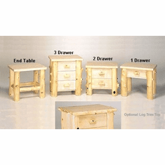 End Table - 3 Drawer