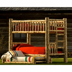 Glacier Log Bunk Bed
