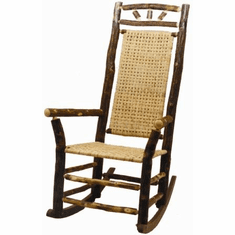 High Back Wagon Wheel Outdoor Rocker