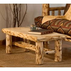 Log Edged Coffee Table 48""