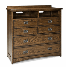 Oak Park 5-Drawer Media Chest