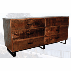 Old Hickory Brooklyn Reclaimed 6-Drawer Double Dresser