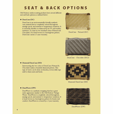 Outdoor Seat and Back Options
