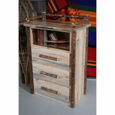 Pine 3 Drawer Chest w/Shelf