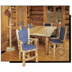 Rectangle Dining Table with Log Legs