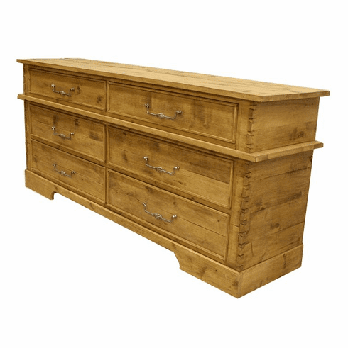 "Rustic 6 Drawer 82"" Dresser"