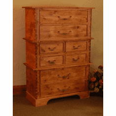 Rustic Alder 8 Drawer Stacked Chest