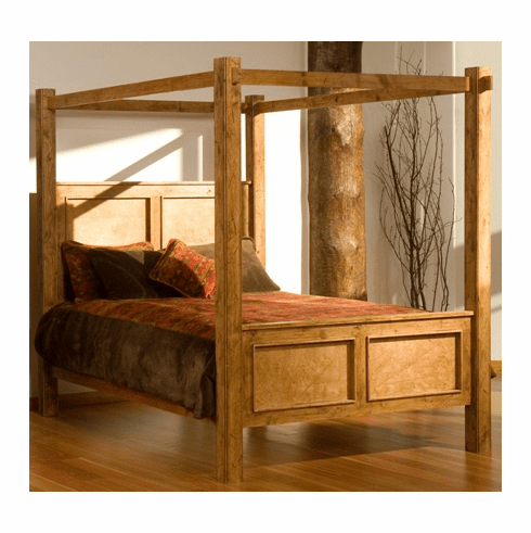 Rustic Alder Canopy Bed