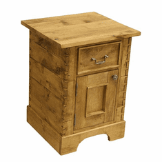 Rustic Alder Drawer / Door Side Table