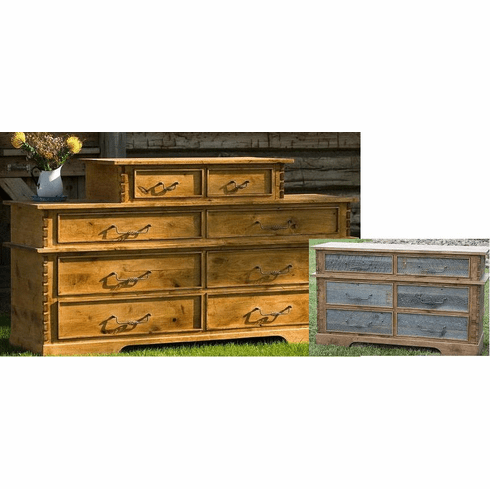 Rustic Barnwood/Alder 2 over 6 Drawer Chest