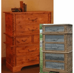 Rustic Barnwood/Alder 6 Drawer Chest