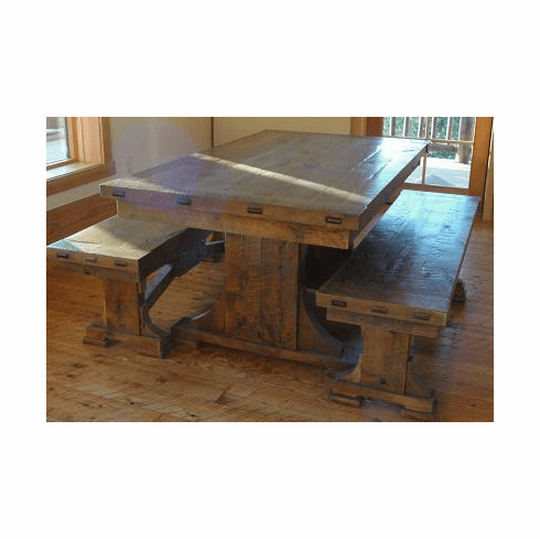 Rustic Creek Trestle Dining Table