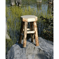 Solid Wood Octagonal Stool