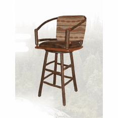 Two Hoop Swivel Barstool