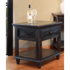 Vintage Black End Table