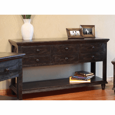 Vintage Black Sofa Table