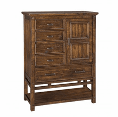 Wolf Creek Five-Drawer Door Chest