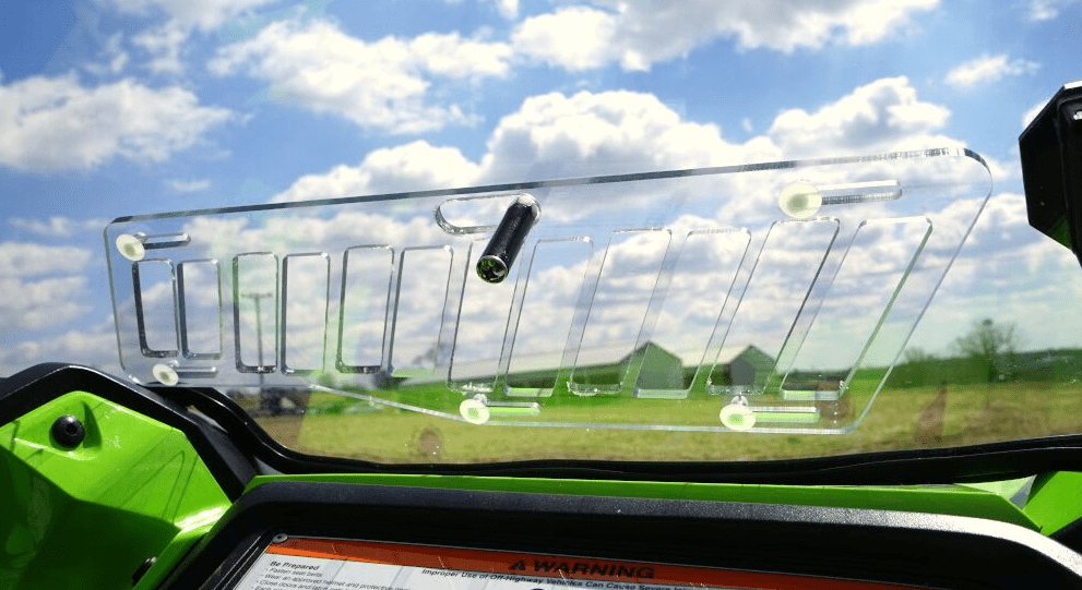 Aero-Vent Front Lexan Windshield by Over Armour Offroad - Honda Talon 1000