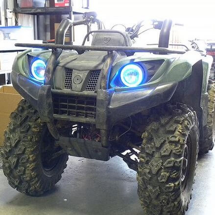 Yamaha Grizzly 660 >> Angel Eye Led Headlight Kit By Snorkel Your Atv Yamaha Grizzly 350 400 450 660