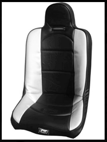 PRP Seats A18 Black//Silver Carbon Fiber High Back Suspension Seat for Rhino//Teryx